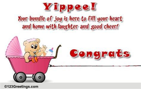 Your Bundle Of Joy Is Here! Free New Baby eCards, Greeting