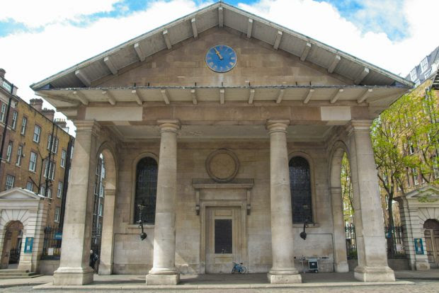 Saint Paul church in Covent Garden
