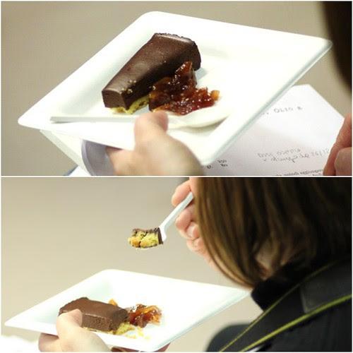 tartufo al cioccolato fondente, olio e arancia