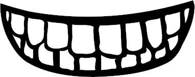 grinning teeth