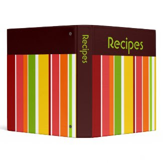 Retro Stripes Recipe Binder binder