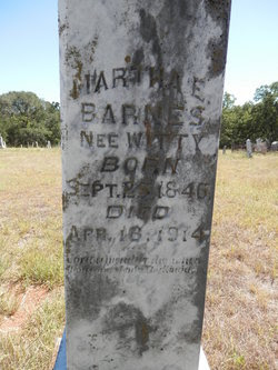 Martha E. Witty Barnes headstone