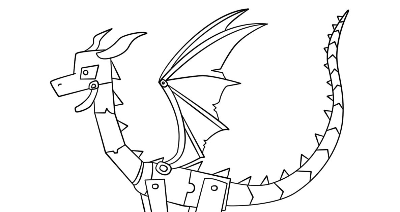 meilleur de coloriage dragon minecraft de glace a imprimer
