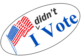 Image result for I didn't vote sticker