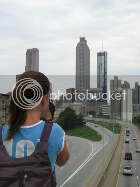 urban hiker and ATL skyline