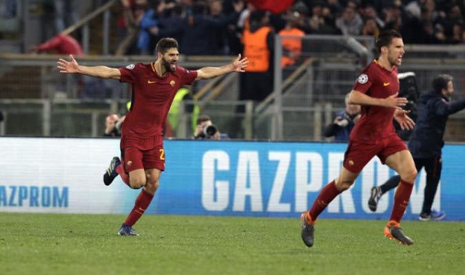 Manolas celebrando el último gol / AP