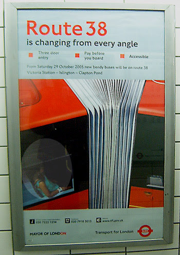 Route 38 London Underground Poster