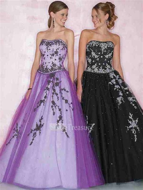 Black and purple wedding dresses   Luxury Brides