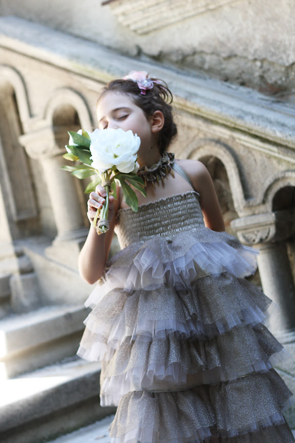 Cascade tulle skirt/dress