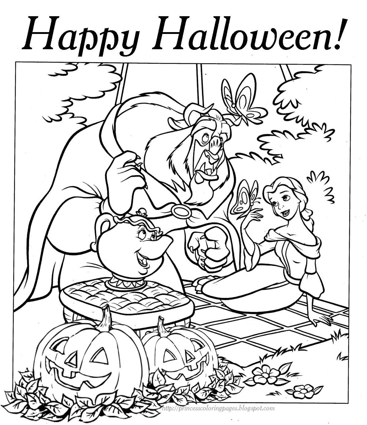 - 6 Pics Of Disney Halloween Coloring Pages Hard Free Disney Coloring Home - Coloring  Pages