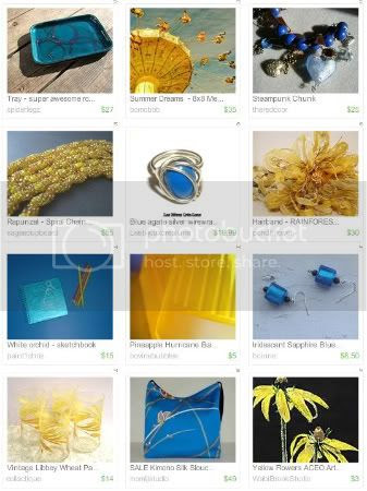 All About the Blues Treasury by SimpleSundries.etsy.com