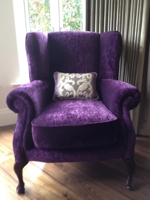 Wing Back Chair Re Upholstery Contemporary Living Room