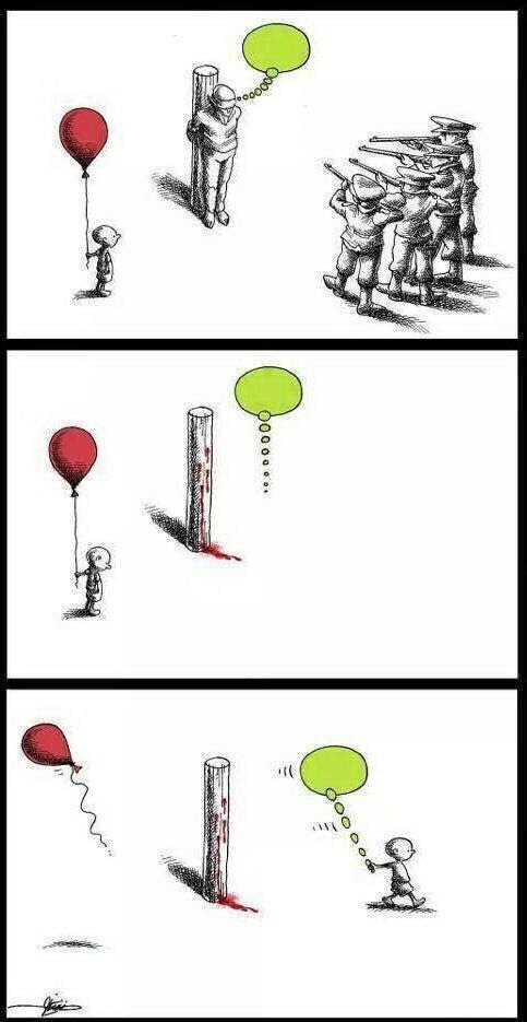 Difícil d'explicar, però la idea general és que les persones poden morir però les idees no