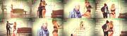 Ines Aires Pereira sensual em lingerie numa peça de teatro