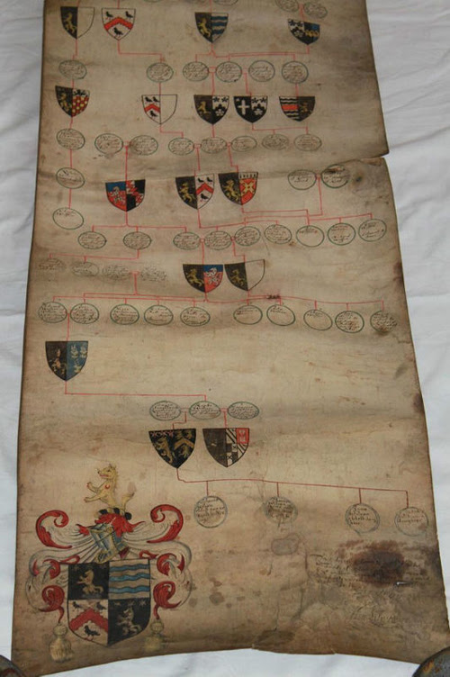 Medieval Armorial English Manuscript 1634