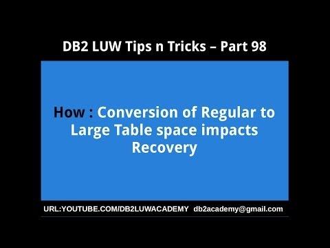 DB2 LUW ACADEMY: DB2 LUW Tips n Tricks Part 98