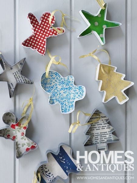 Homemade cookie cutter decorations.