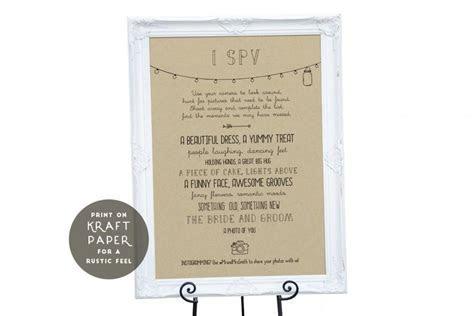 ANNABELLE: Editable Wedding I Spy Game   Rustic Mason Jar