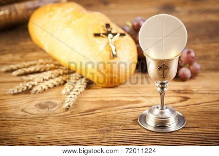Holy Communion Bread Wine Poster Id72011224