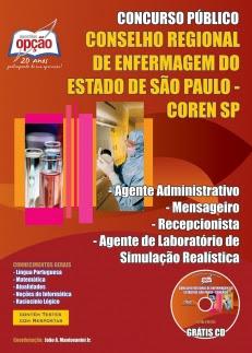 Conselho Regional de Enfermagem de São Paulo (COREN-SP)-AG. ADM./ MENSAGEIRO/ RECEPCIONISTA /AG. DE LAB./ SIMULAÇÃO REALÍSTICA