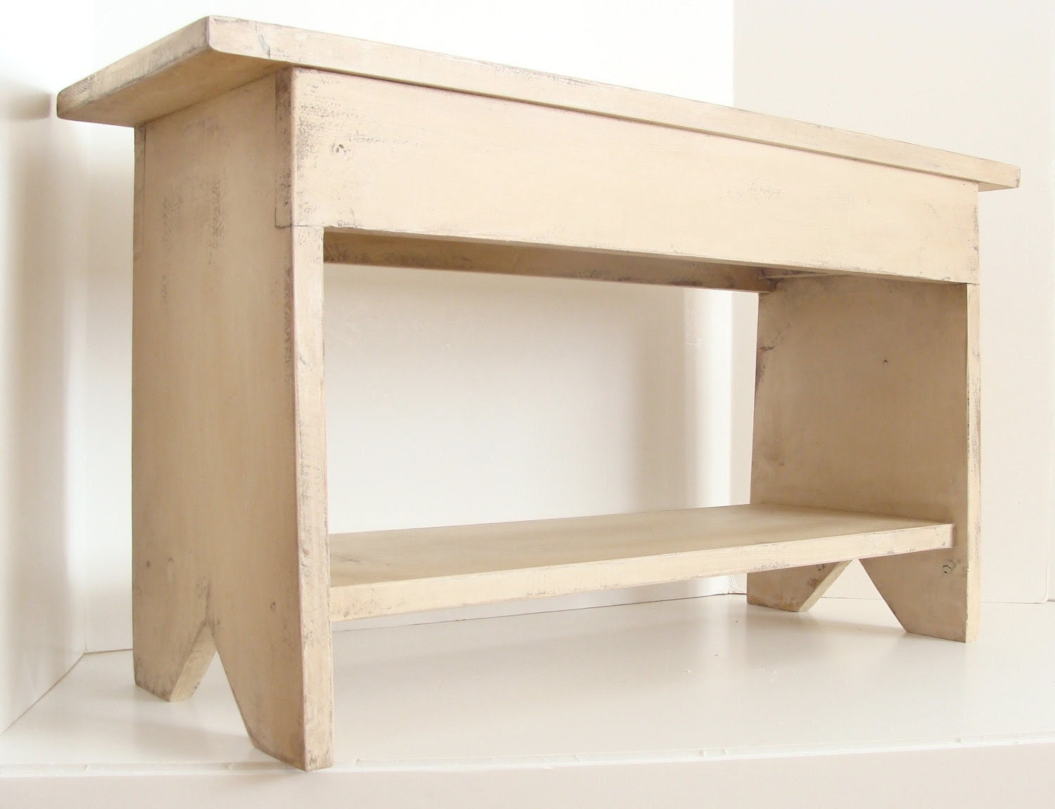 Entryway Storage Bench Unfinished Wood   Decorator Showcase : Home