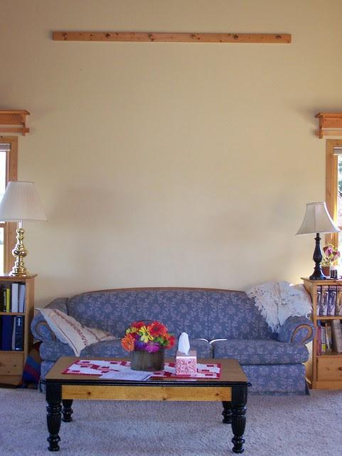 Bare living room wall