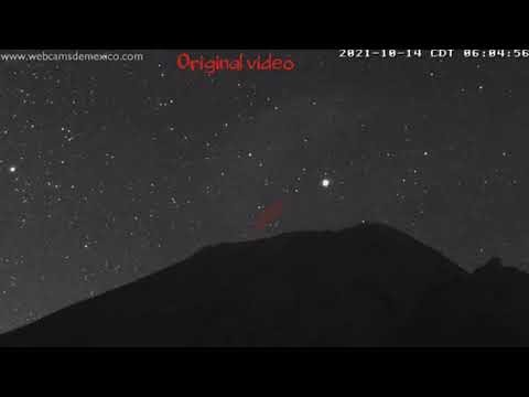 UFO'S 🛸🛸 at Mt. Popocatepetl 🌋 view from Mexico 2 Time-Lapse videos also on 10/14/21 @ CDT 6:05
