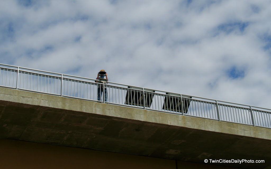 Yep, I was spotted by this scenic onlooker while taking his photo. It was a classic moment in camera versus binoculars.
