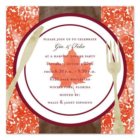 Harvest Dinner   Party Invitations by Invitation