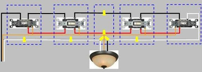 4 Way Switch Installation Circuit Style 4