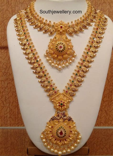 Mango Necklace and Long Haram Set photo   Ethnic Jewellery