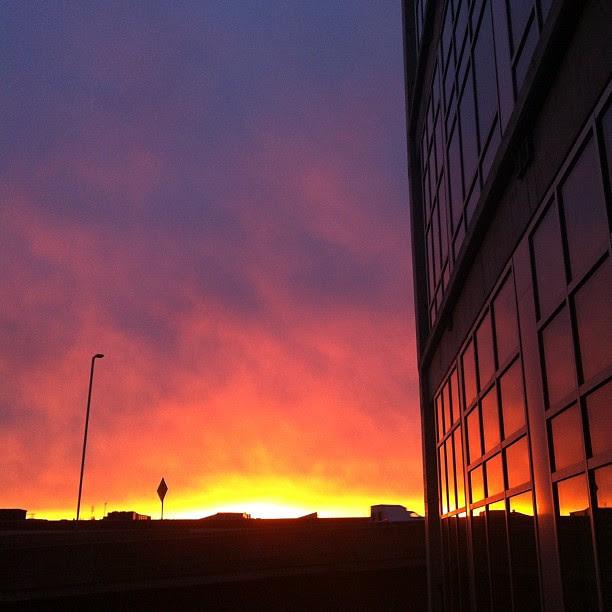 no words... the sky is on fire! #cincinnati #downtowncincy