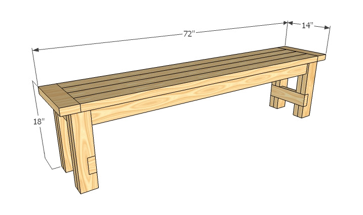 Simple Wood Bench Designs - Blueprints PDF DIY Download How To ...