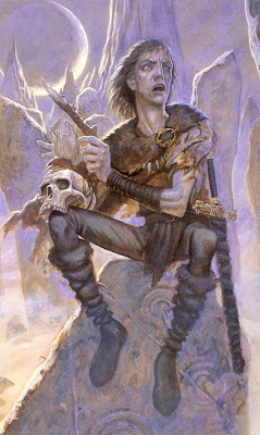 illustration by Paul Kidby, from Terry Pratchett's book The Last Hero