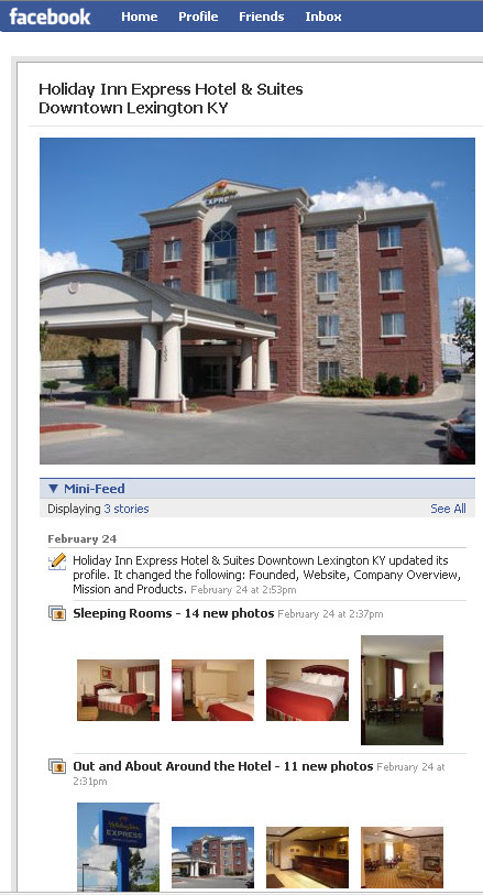 Holiday Inn Express on Facebook