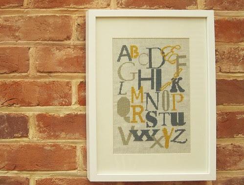 Nursery Alphabet Sampler from Fox & Feathers