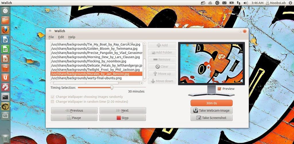 ubuntu wallch