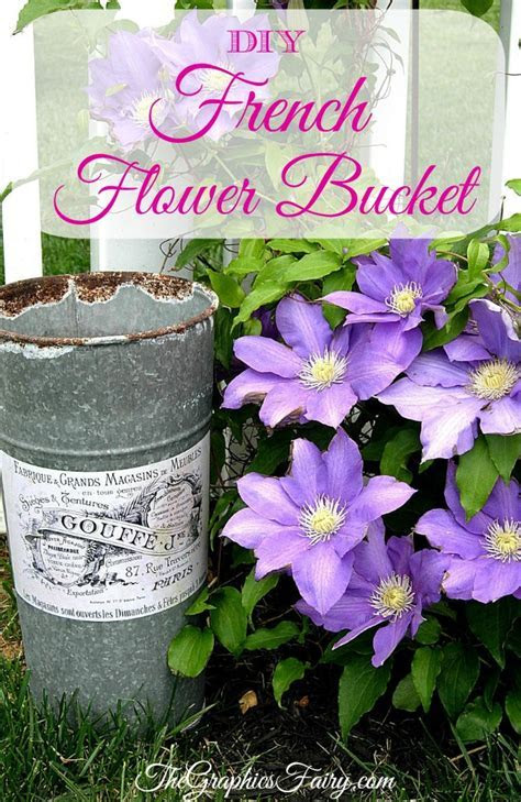 Crafty Project   French Flower Bucket   DIY   The Graphics