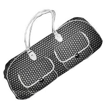 CGull Provo Craft Cricut Expression Canvas Rolling Tote Black & White Polka Dot