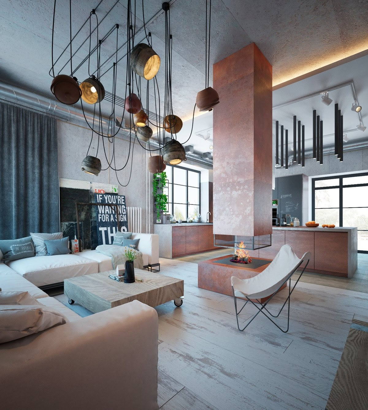 Home Ideas - Modern Home Design: Industrial Interior Design