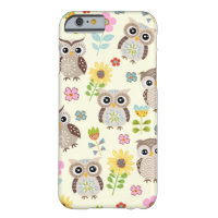 Cute Owls and Lovely Flowers iPhone 6 case