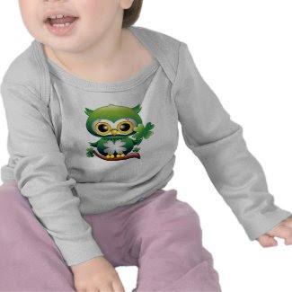 Baby Owl St Patrick Paddy Cartoon Baby Apparel T-shirt