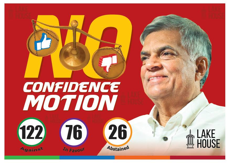 No Confidence Motion against PM defeated