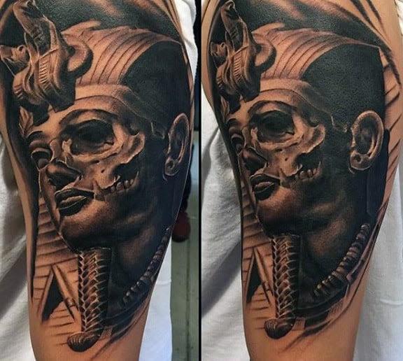 60 King Tut Tattoo Designs For Men Egyptian Ink Ideas