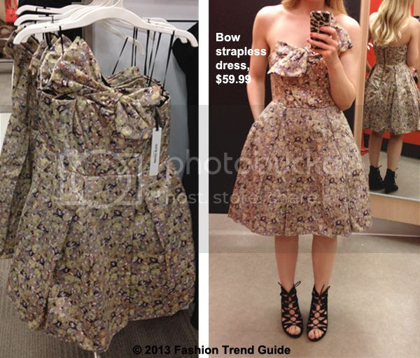 Kate Young for Target strapless bow dress in floral