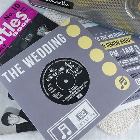 Wedding/ Party Invitations   REAL Vintage Vinyl Record