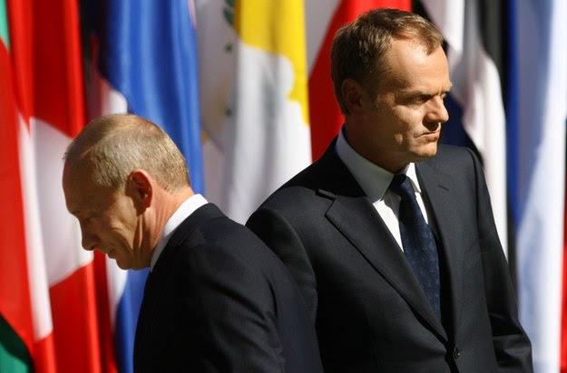 Władimir Putin i Donald Tusk /ŁUKASZ OSTALSKI/REPORTER /East News