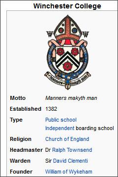 http://en.wikipedia.org/wiki/Winchester_College