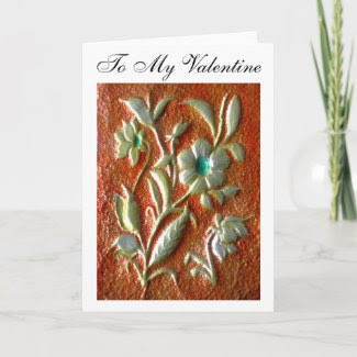 To My Valentine Flower Art_Romantic Greeting Cards card