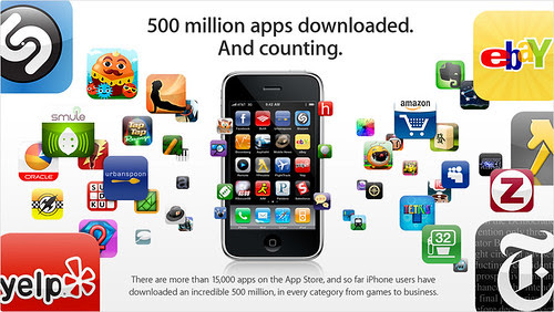 iPhone App Store 5億ダウンロード